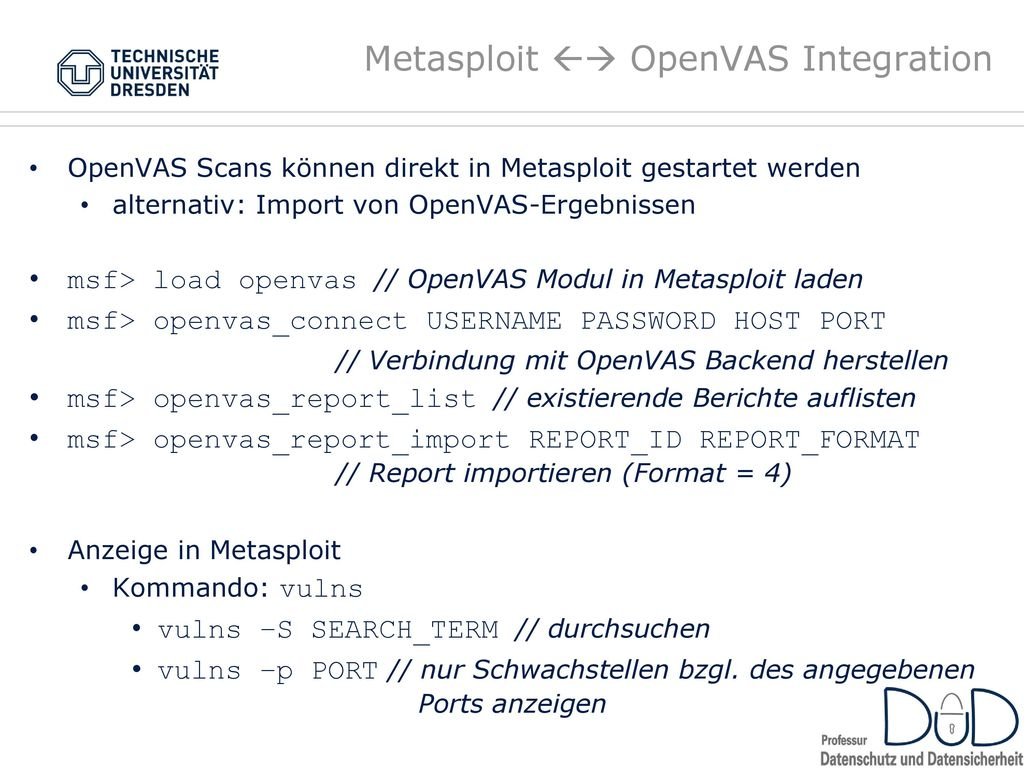 Metasploit  OpenVAS Integration