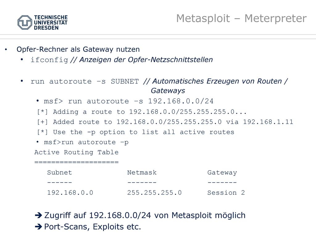 Metasploit – Meterpreter
