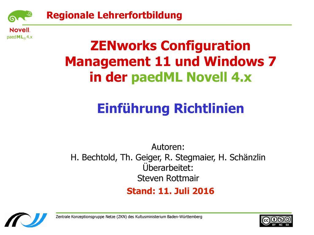 Autoren: H. Bechtold, Th. Geiger, R. Stegmaier, H. Schänzlin