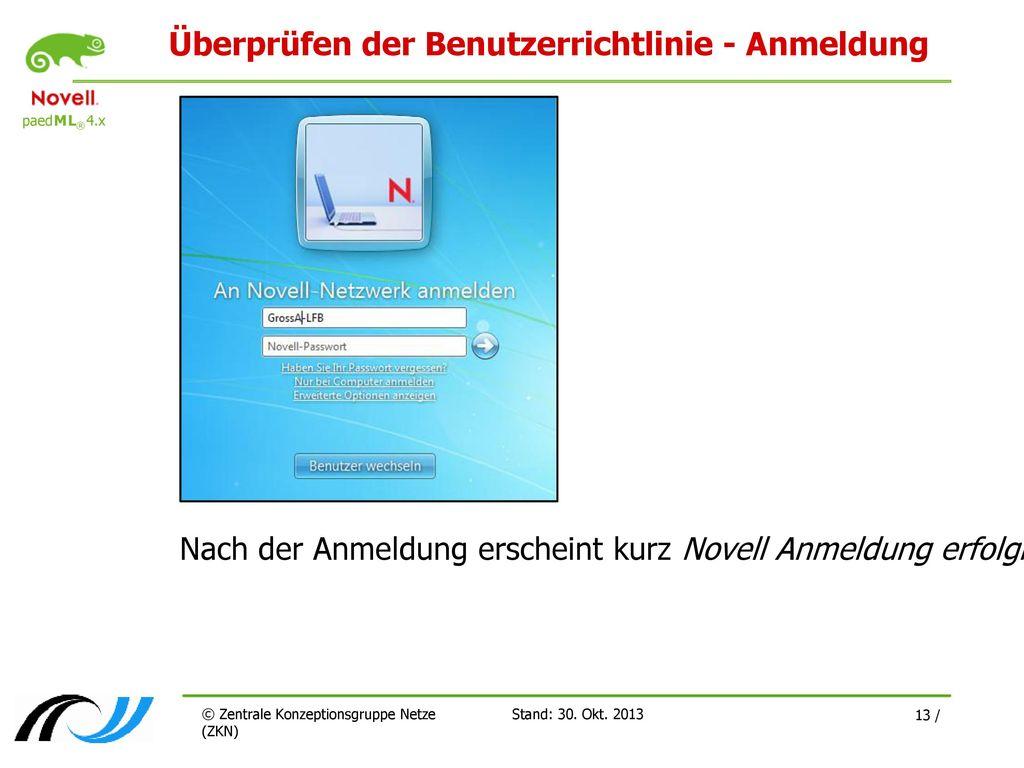 Überprüfen der Benutzerrichtlinie - Anmeldung