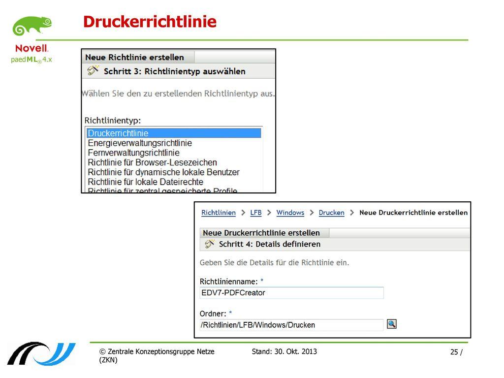 Druckerrichtlinie © Zentrale Konzeptionsgruppe Netze (ZKN)