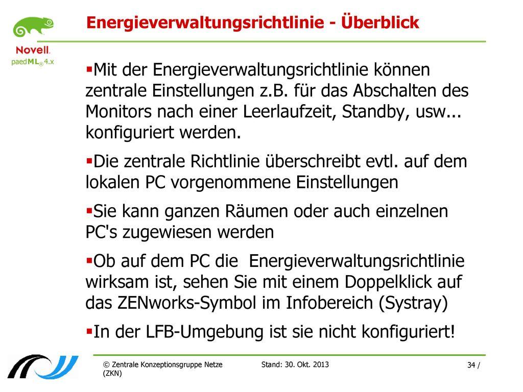 Energieverwaltungsrichtlinie - Überblick
