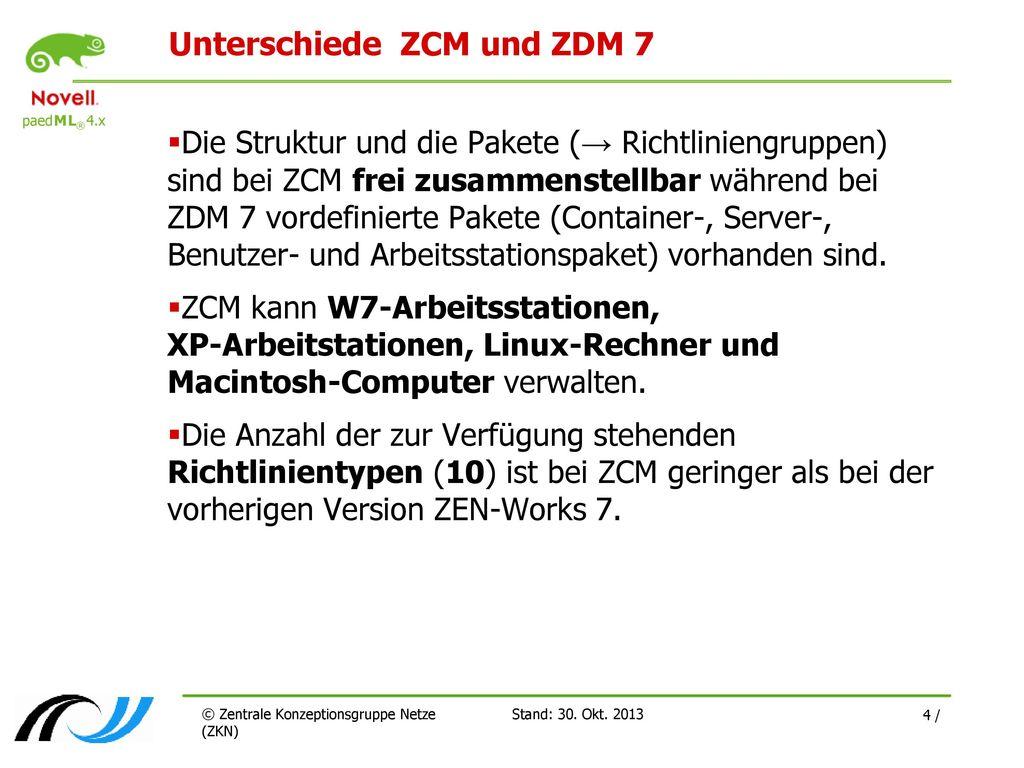 Unterschiede ZCM und ZDM 7