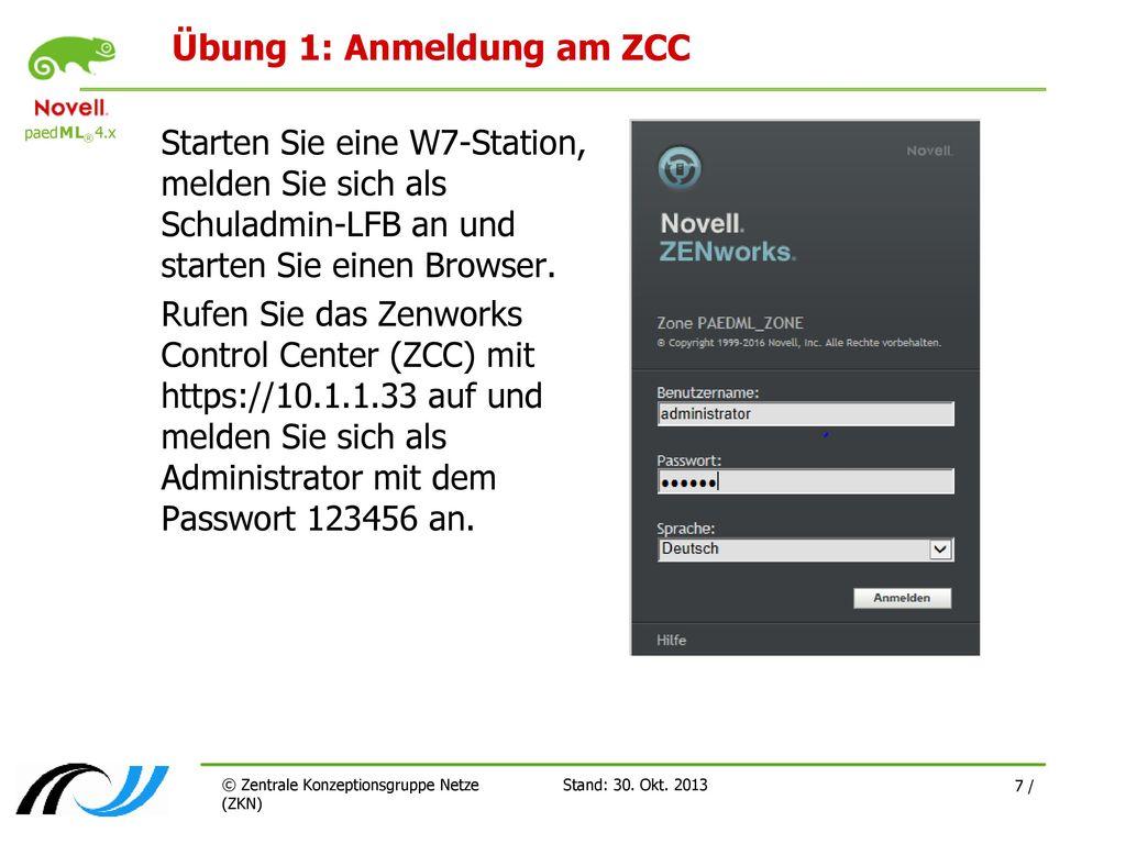 Übung 1: Anmeldung am ZCC