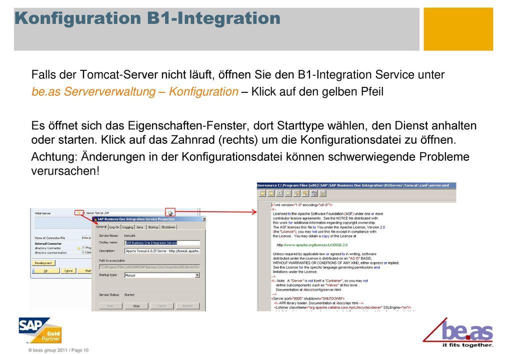 Konfiguration B1-Integration