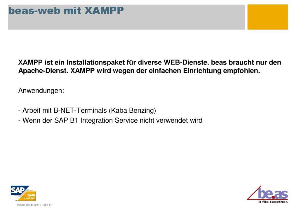 beas-web mit XAMPP