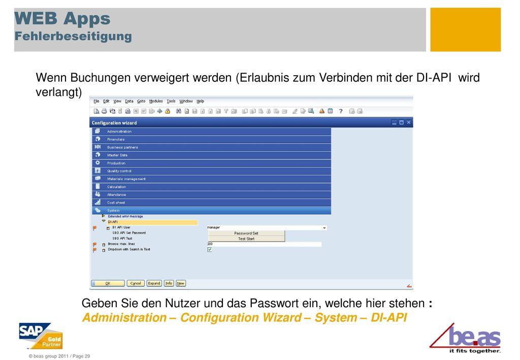 WEB Apps Fehlerbeseitigung