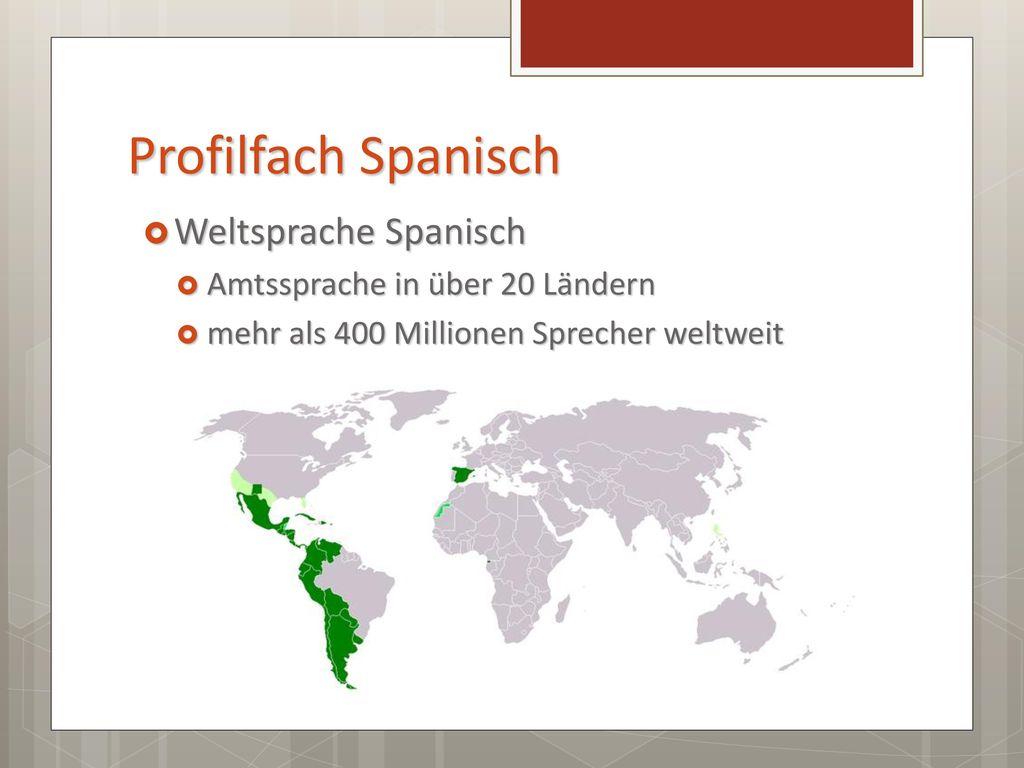 Profilfach Spanisch Weltsprache Spanisch