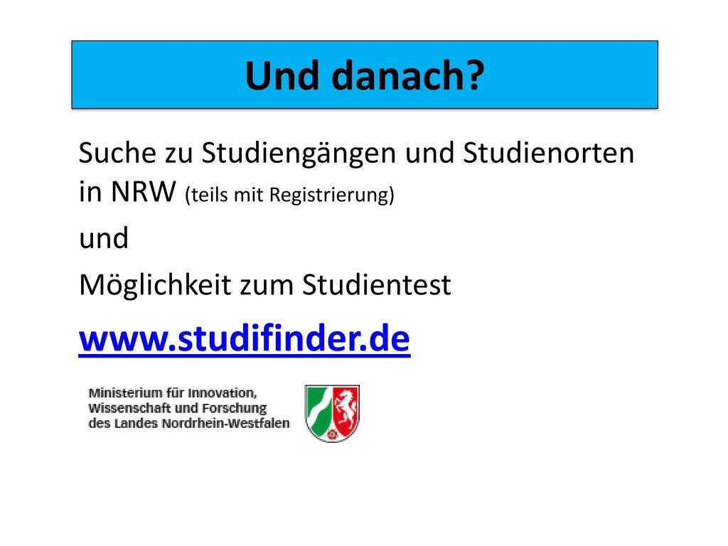 Und danach www.studifinder.de