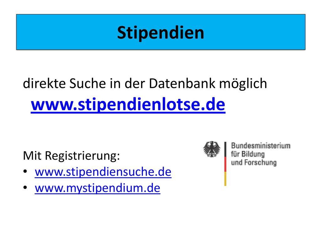 Stipendien www.stipendienlotse.de