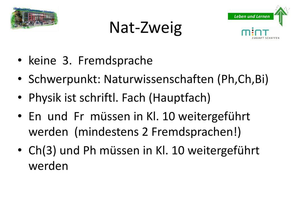 Nat-Zweig keine 3. Fremdsprache