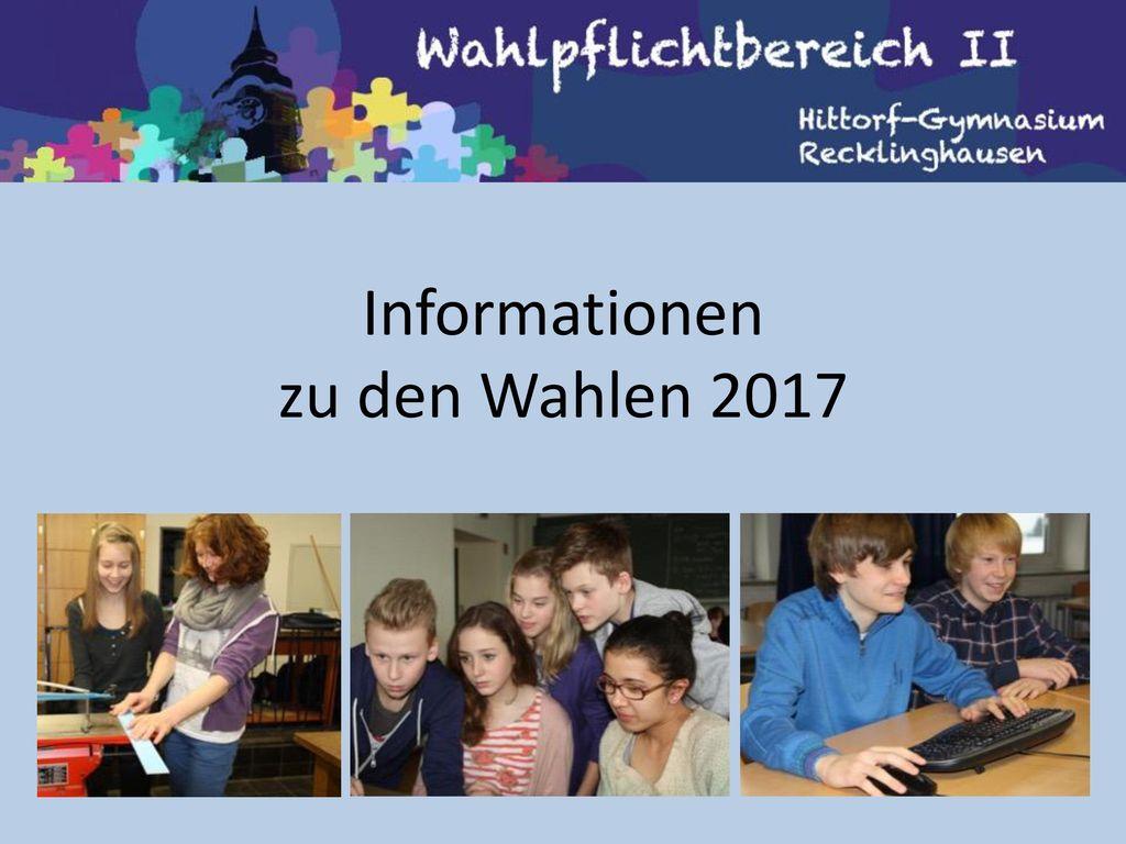 Informationen zu den Wahlen 2017