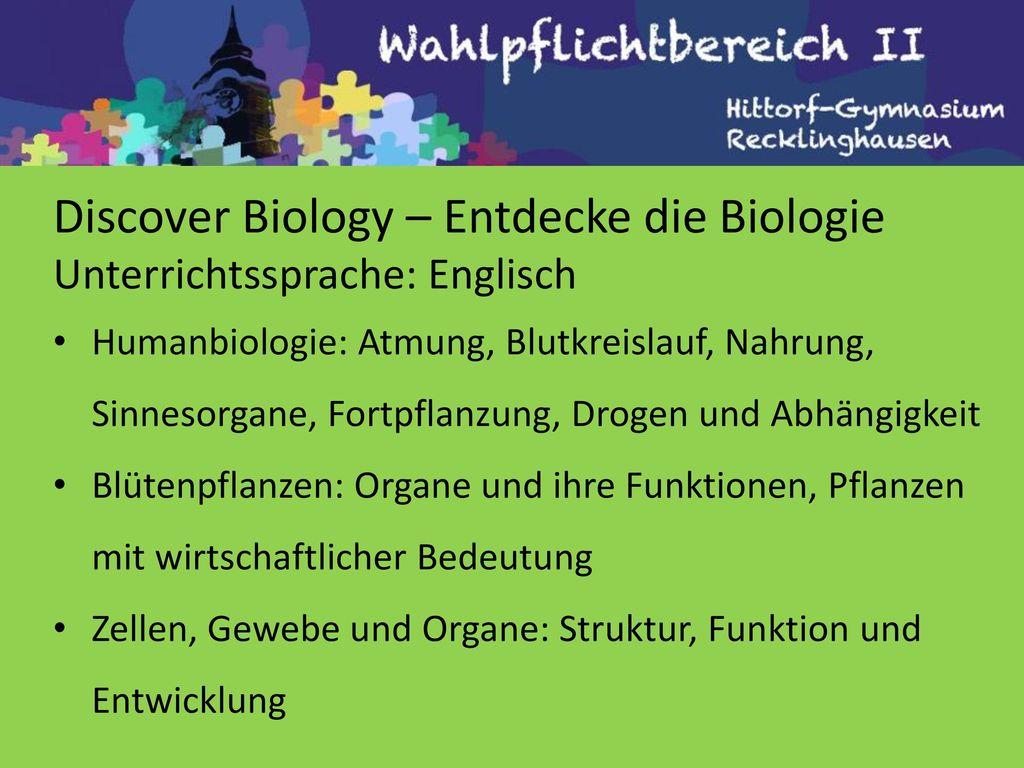 Discover Biology – Entdecke die Biologie