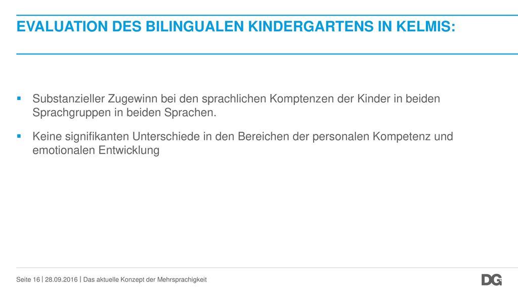 Evaluation des bilingualen Kindergartens in Kelmis: