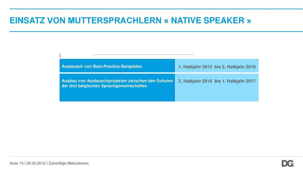 EINSATZ VON MUTTERSPRACHLERN « native speaker »