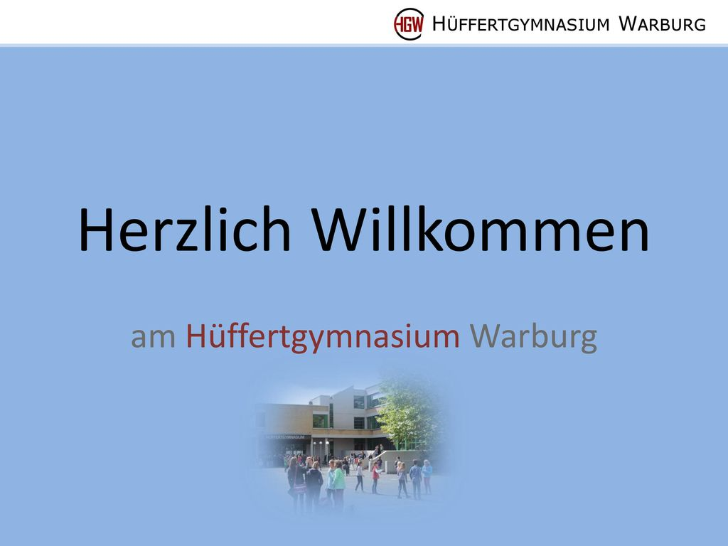 am Hüffertgymnasium Warburg