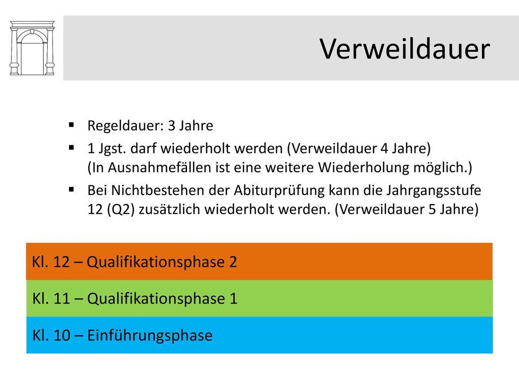 Verweildauer Kl. 12 – Qualifikationsphase 2