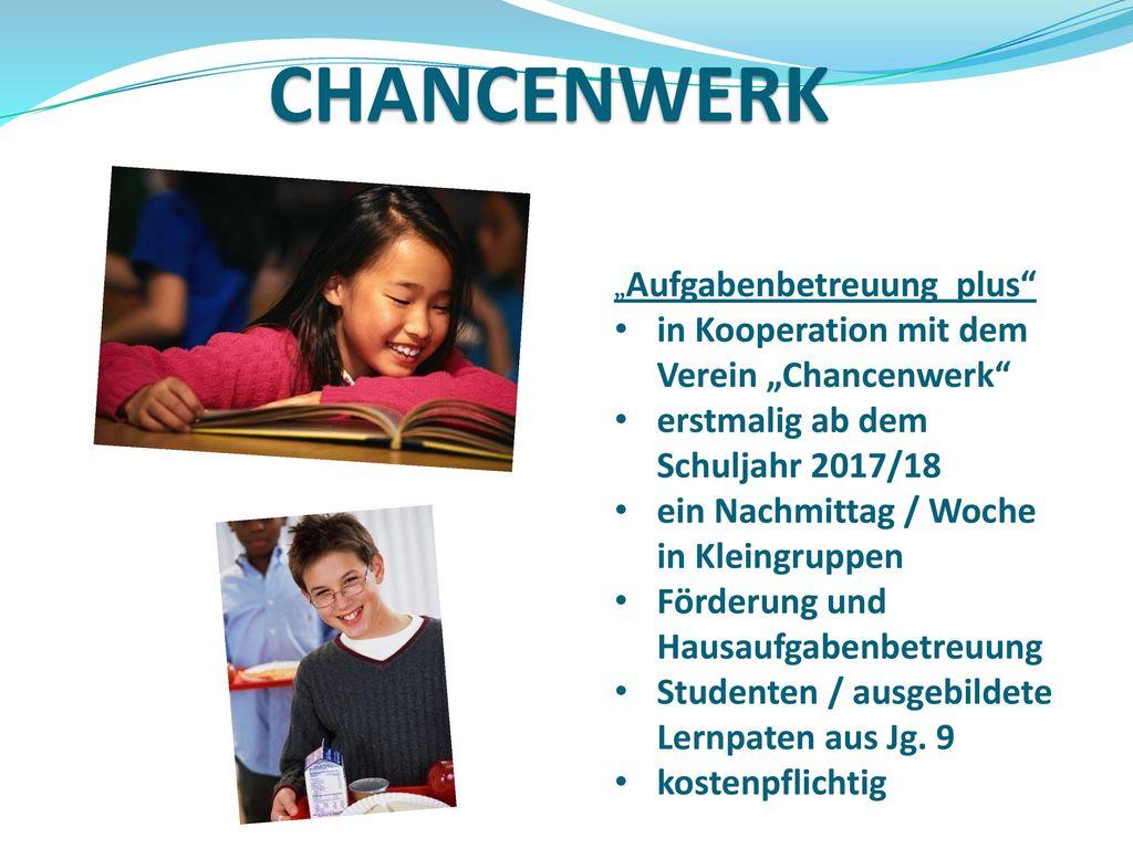 """CHANCENWERK in Kooperation mit dem Verein """"Chancenwerk"""