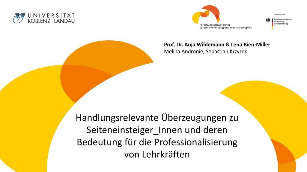 Prof. Dr. Anja Wildemann & Lena Bien-Miller Melina Andronie, Sebastian Krzyzek