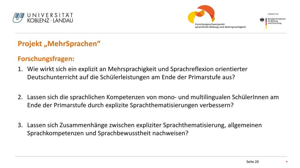 """Projekt """"MehrSprachen"""