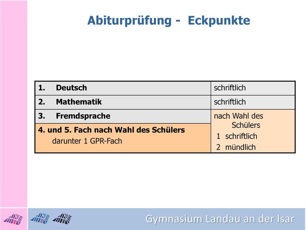 Abiturprüfung - Eckpunkte