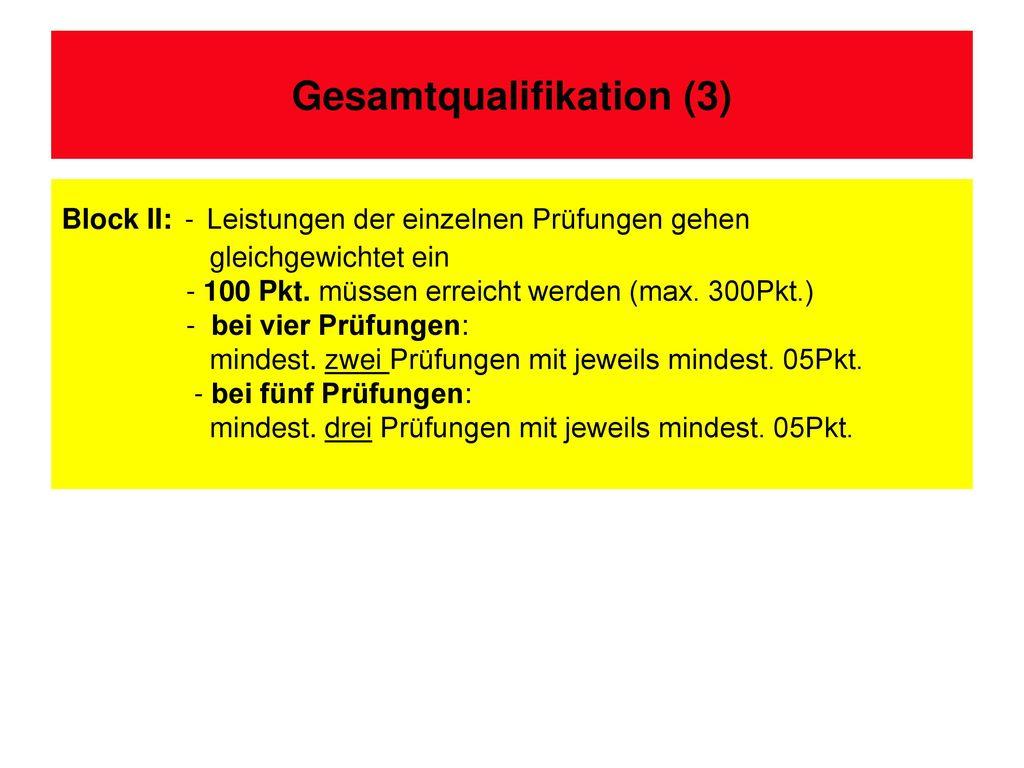 Gesamtqualifikation (3)