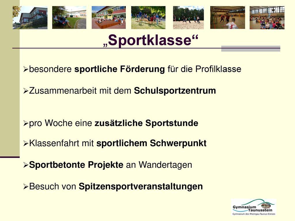 """""""Sportklasse besondere sportliche Förderung für die Profilklasse"""
