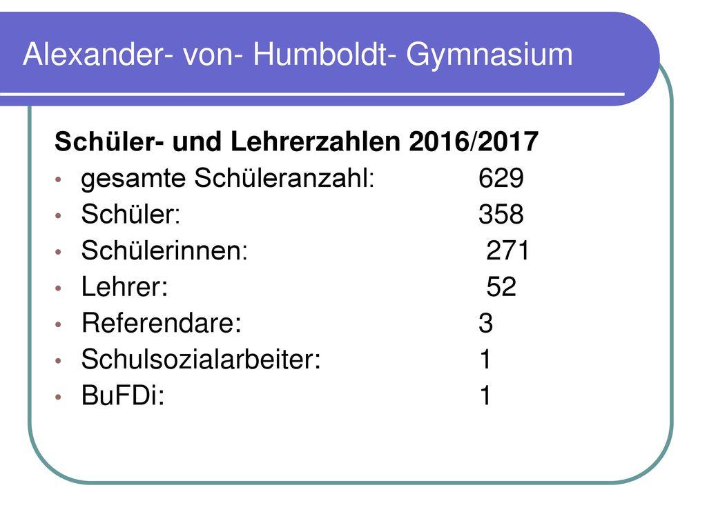Alexander- von- Humboldt- Gymnasium