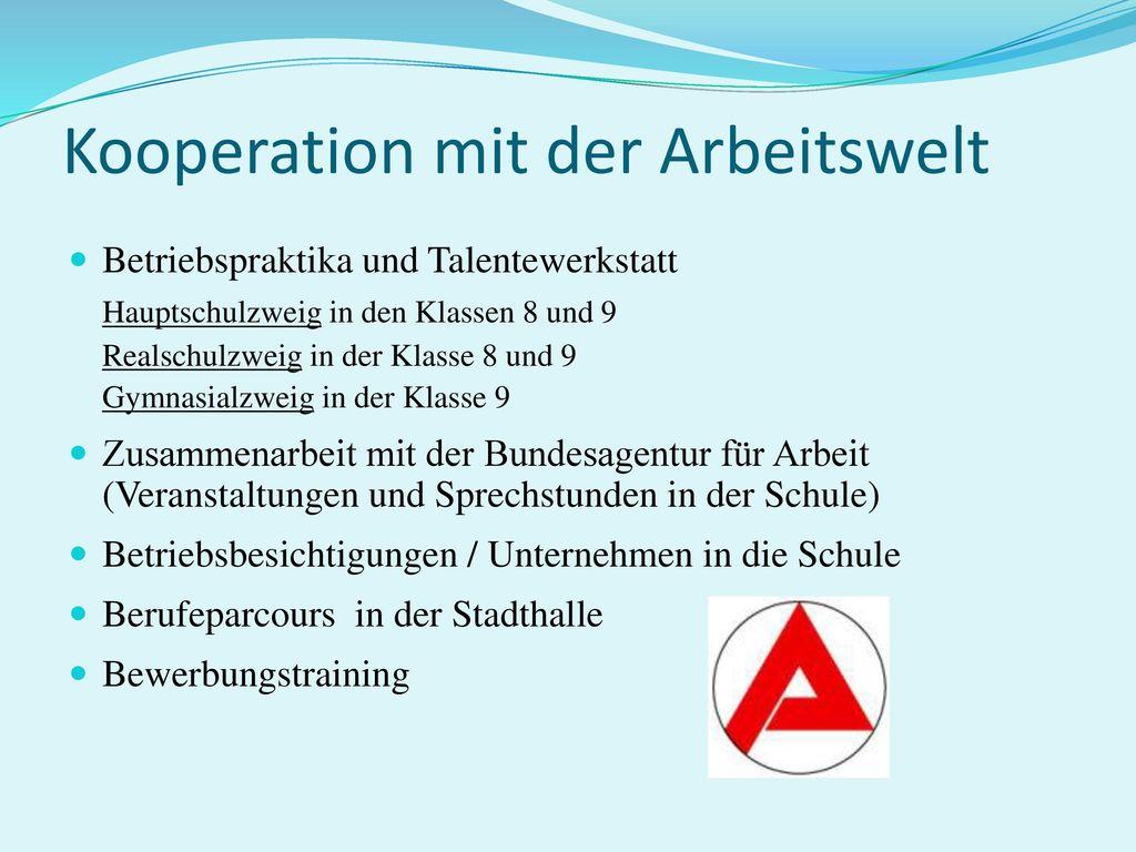Kooperation mit der Arbeitswelt