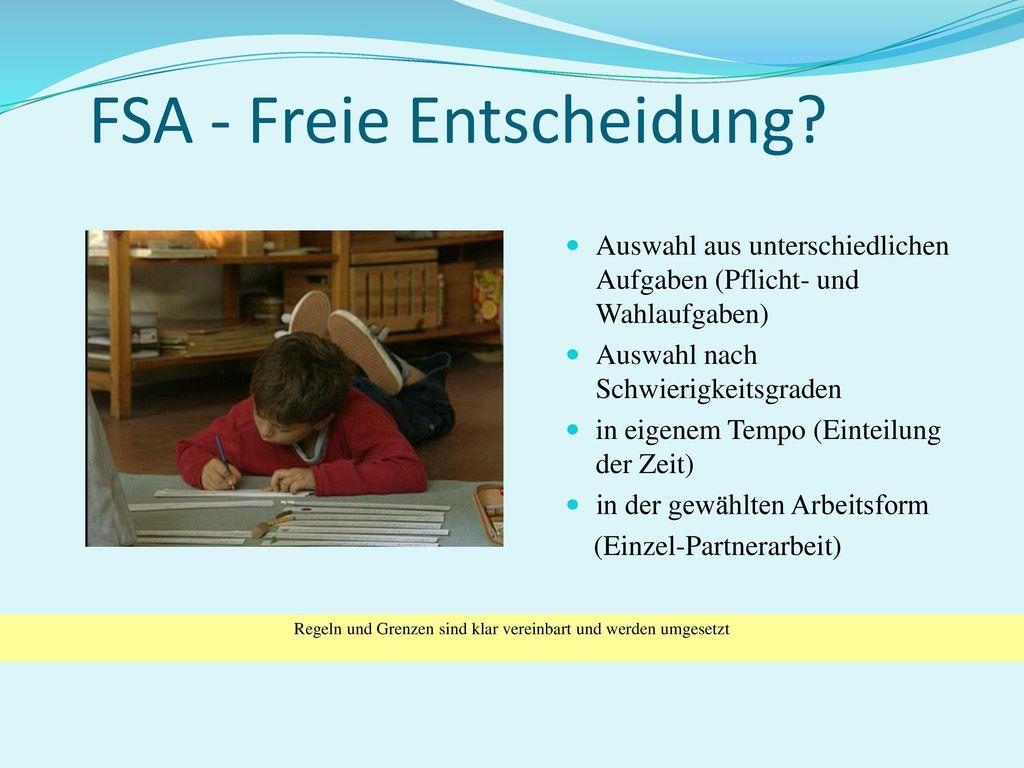 FSA - Freie Entscheidung