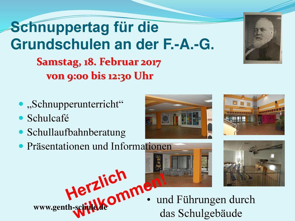 Schnuppertag für die Grundschulen an der F.-A.-G.