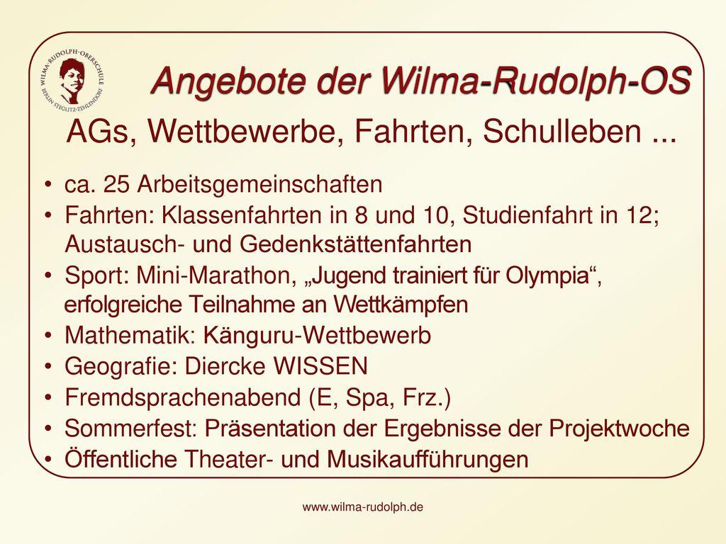AGs, Wettbewerbe, Fahrten, Schulleben ...