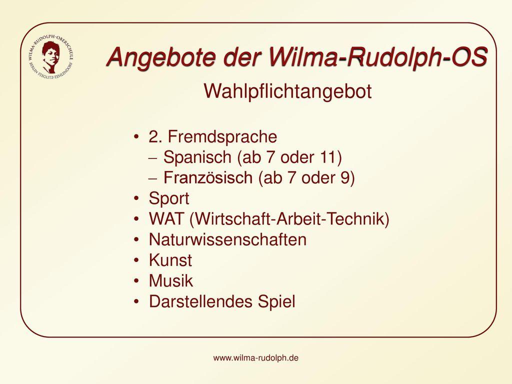 Angebote der Wilma-Rudolph-OS
