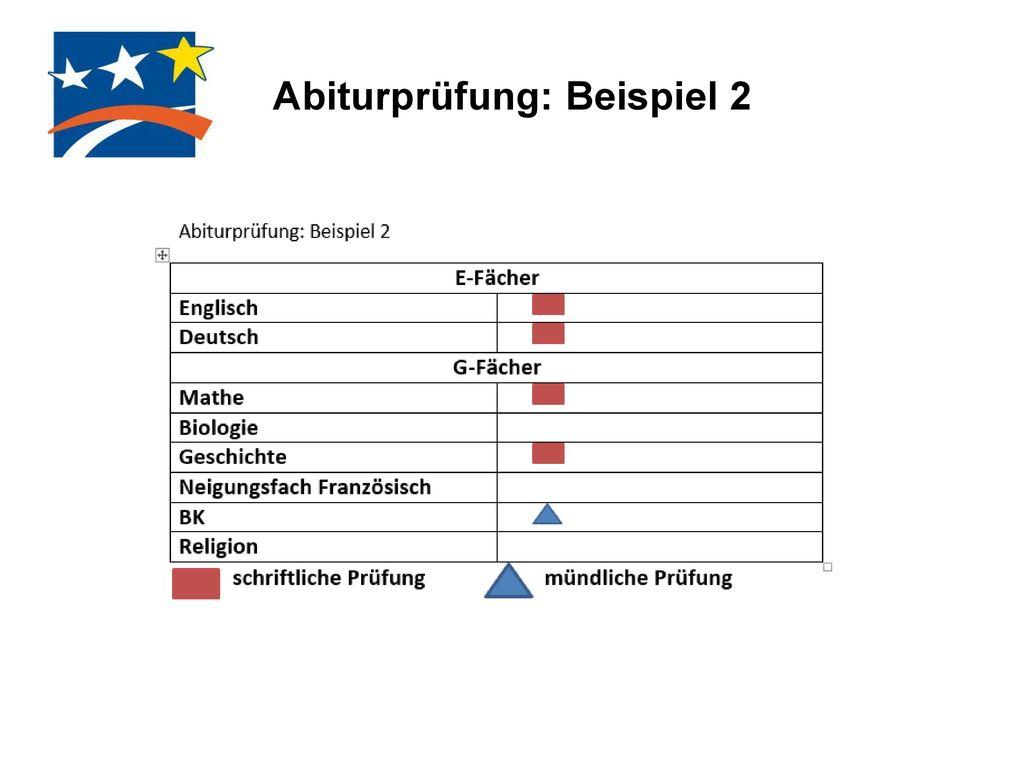 Abiturprüfung: Beispiel 2
