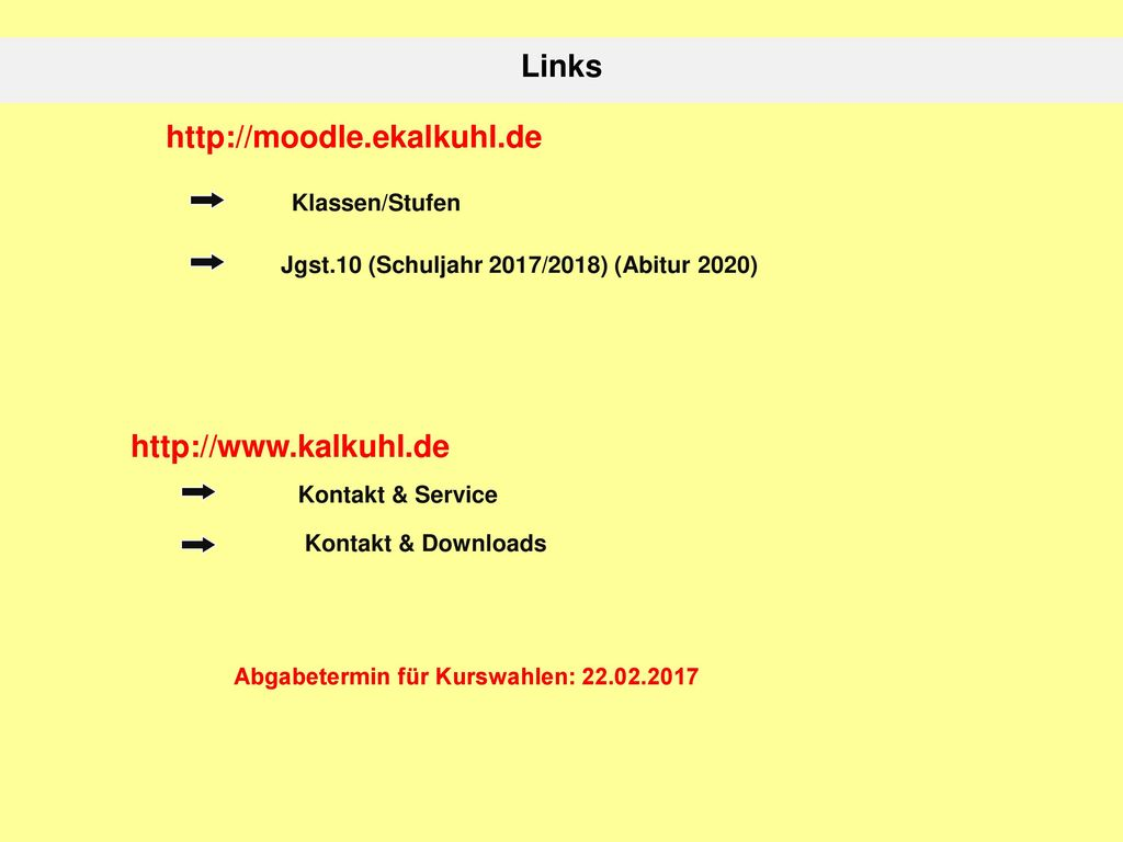 Links     Klassen/Stufen