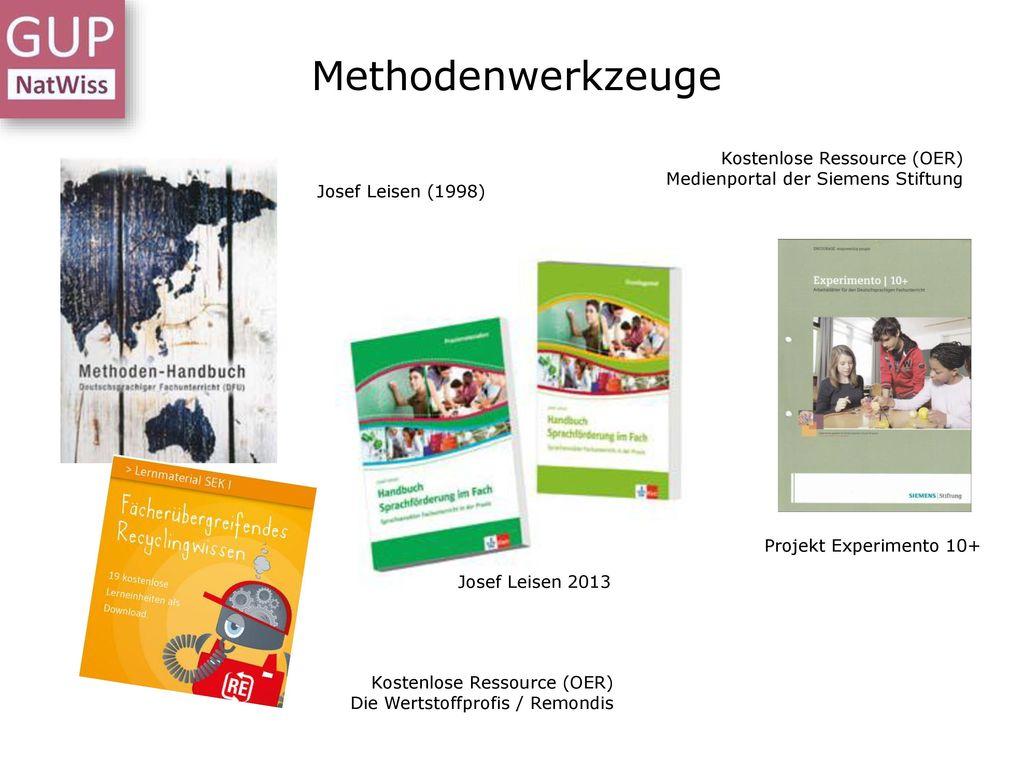 Methodenwerkzeuge Kostenlose Ressource (OER) Medienportal der Siemens Stiftung. Josef Leisen (1998)