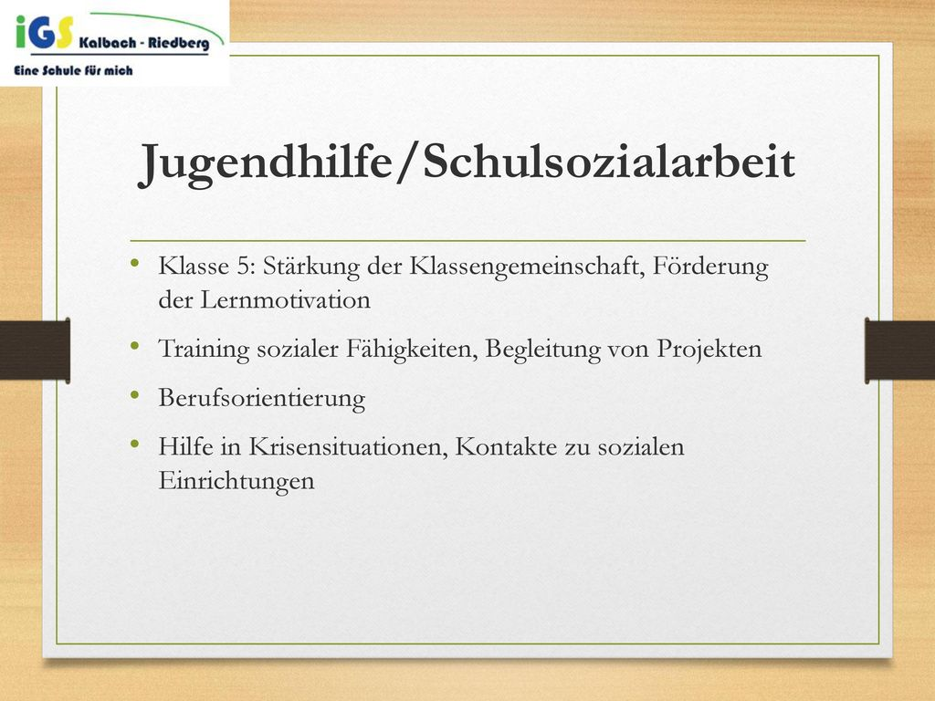 Jugendhilfe/Schulsozialarbeit