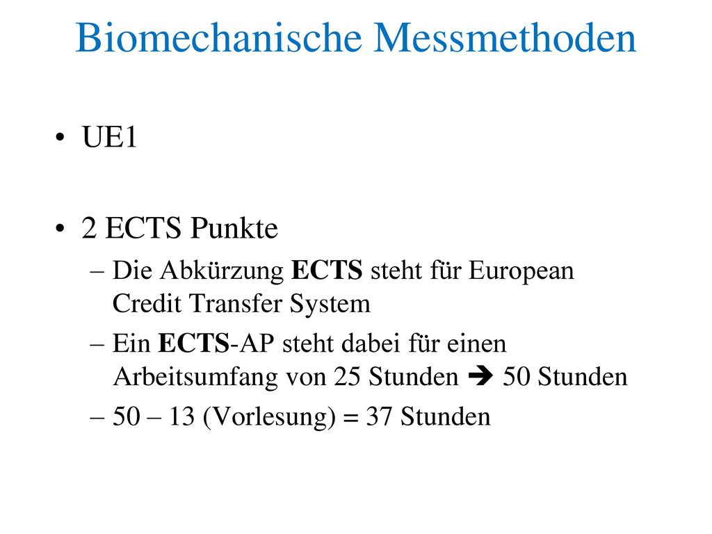 Biomechanische Messmethoden