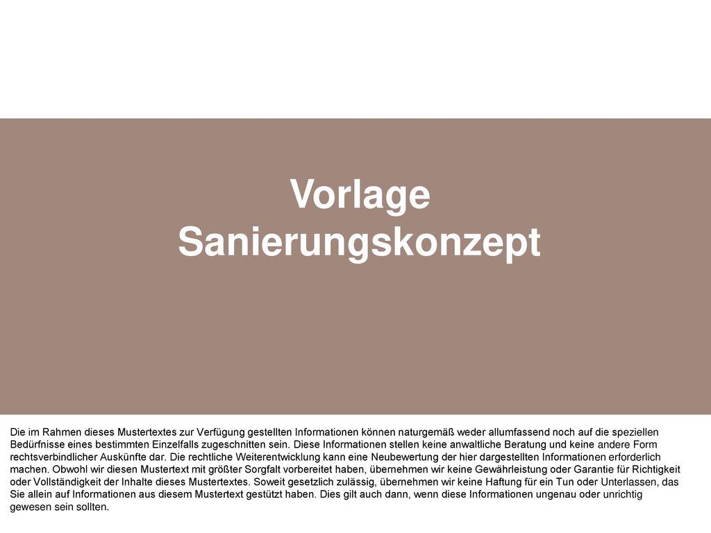 Vorlage Sanierungskonzept - ppt herunterladen
