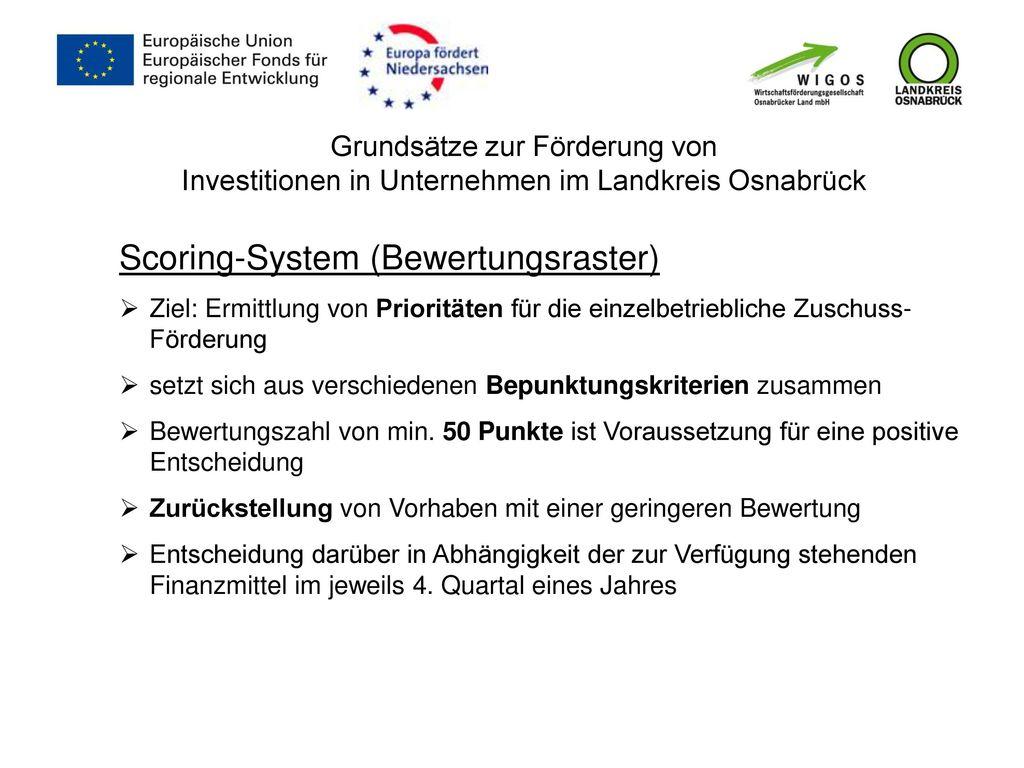 Scoring-System (Bewertungsraster)
