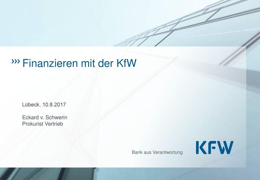 Finanzieren mit der KfW