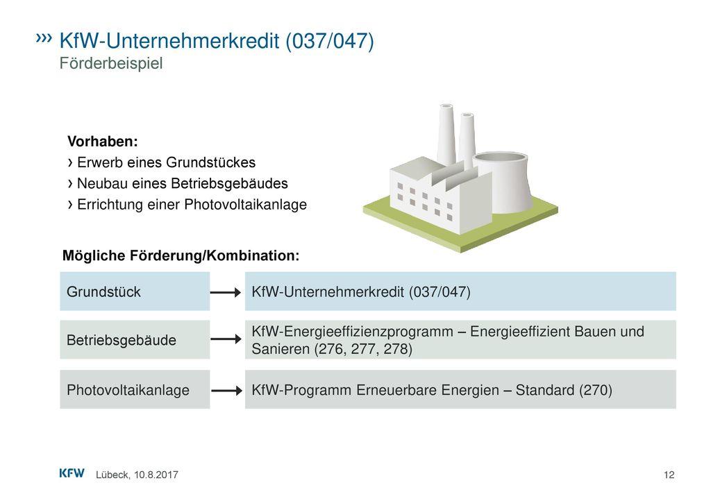 KfW-Unternehmerkredit (037/047) Förderbeispiel