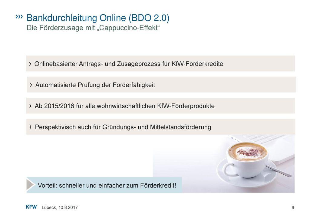 Bankdurchleitung Online (BDO 2