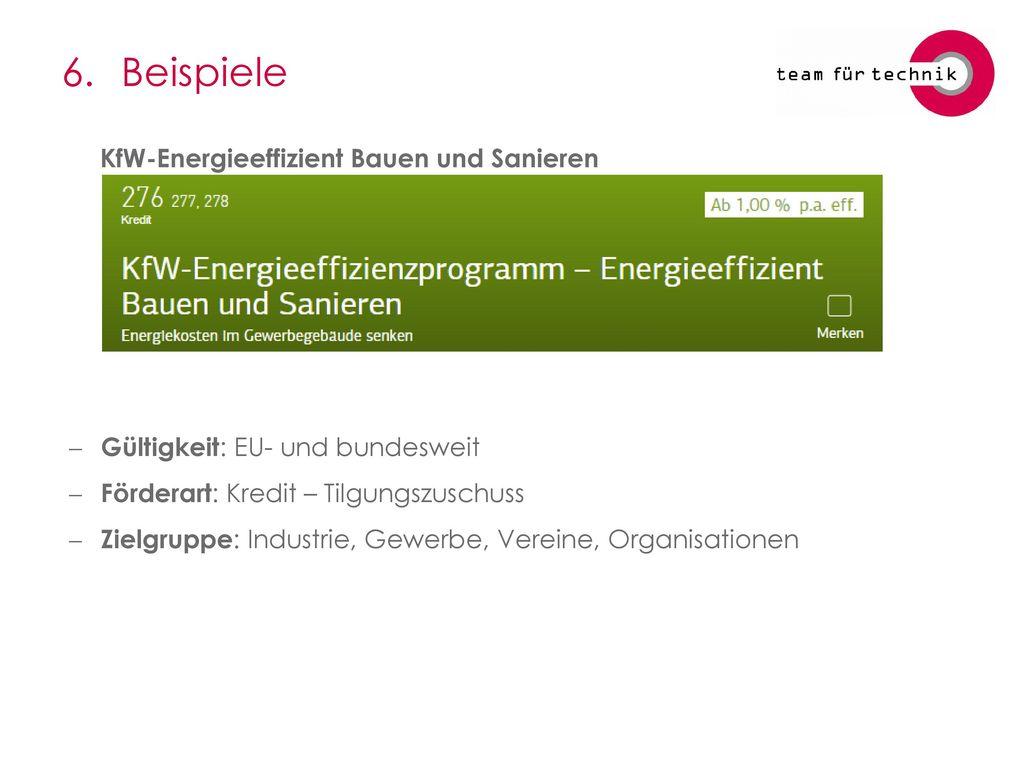 6. Beispiele KfW-Energieeffizient Bauen und Sanieren