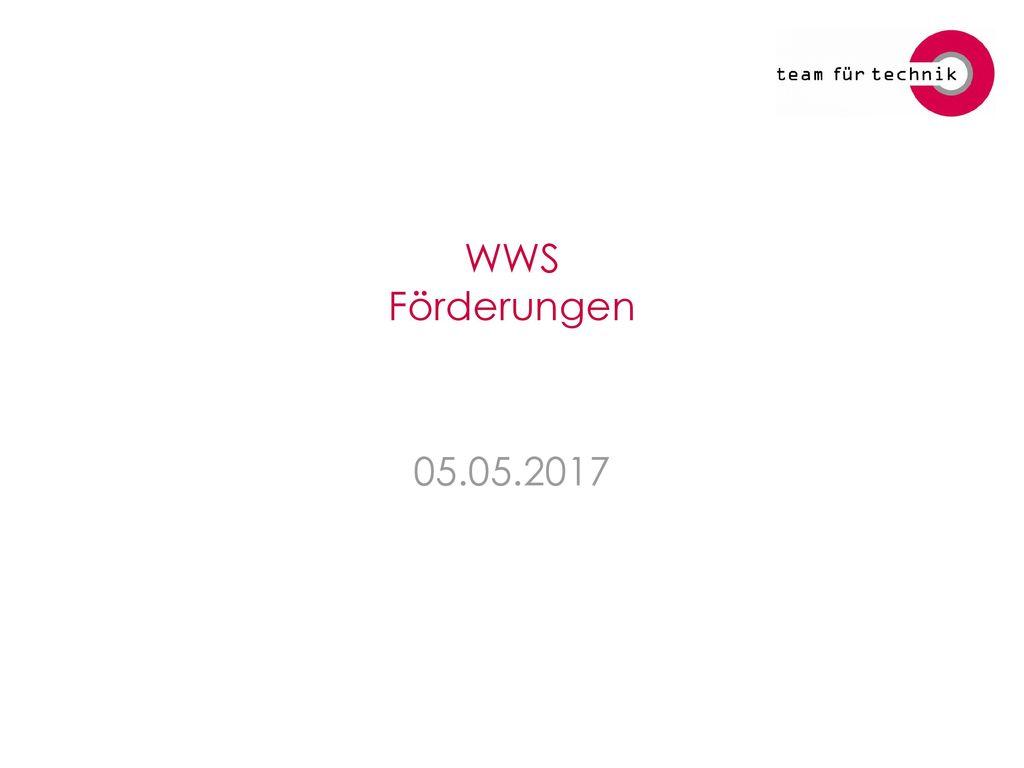 WWS Förderungen 05.05.2017