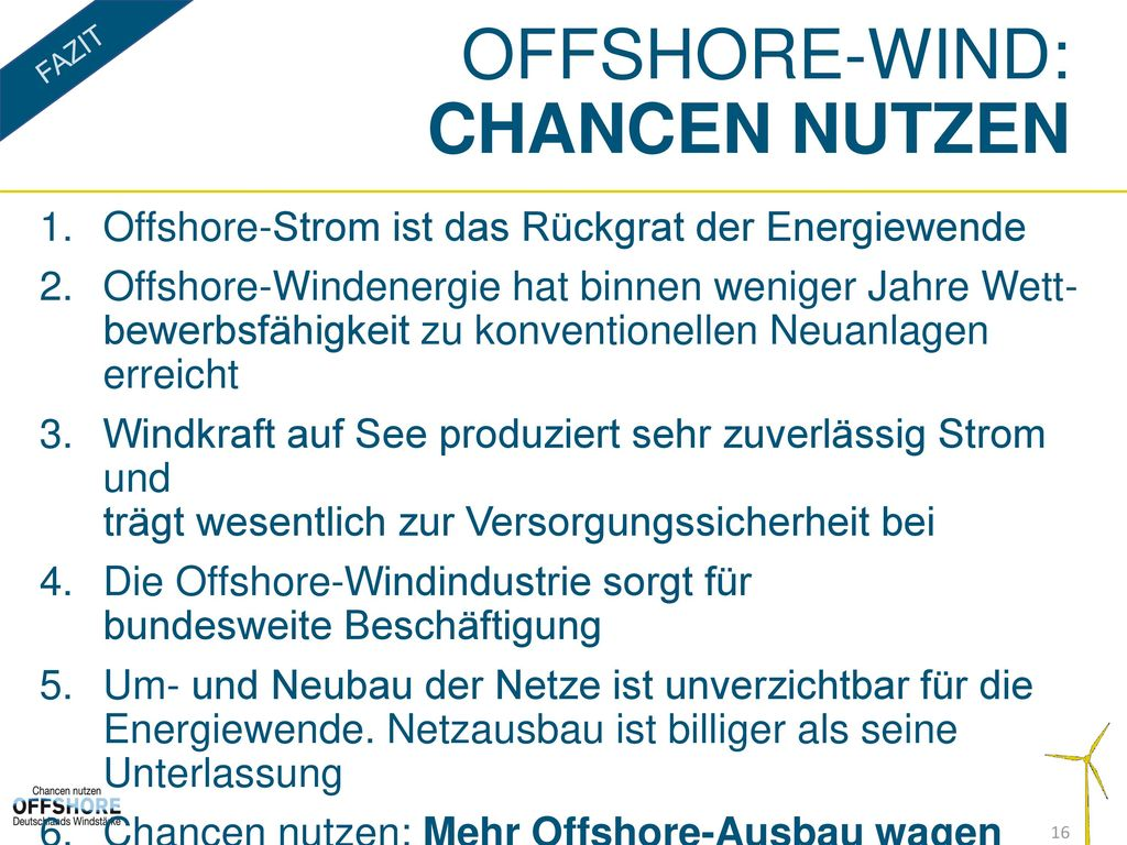 Offshore-wind: Chancen Nutzen