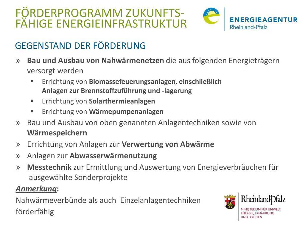 Förderprogramm Zukunfts- fähige Energieinfrastruktur