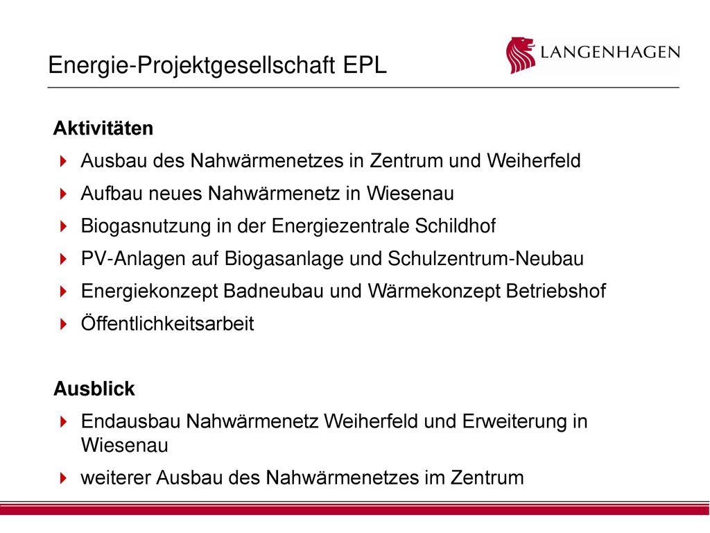 Energie-Projektgesellschaft EPL