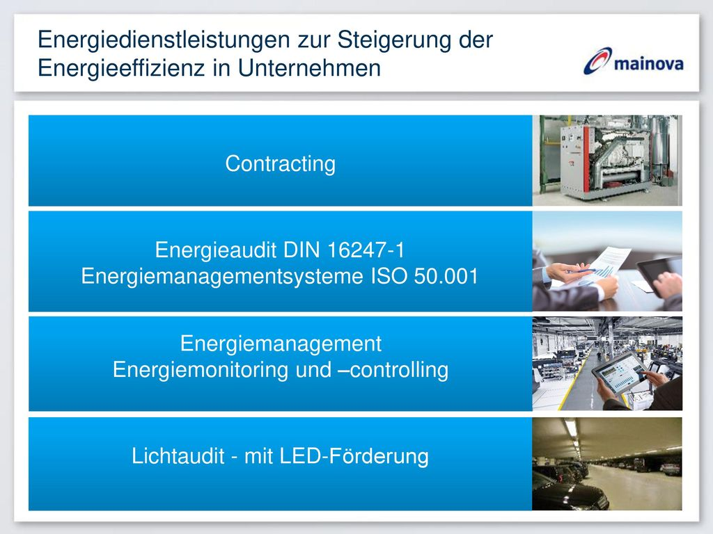 Energiedienstleistungen zur Steigerung der Energieeffizienz in Unternehmen