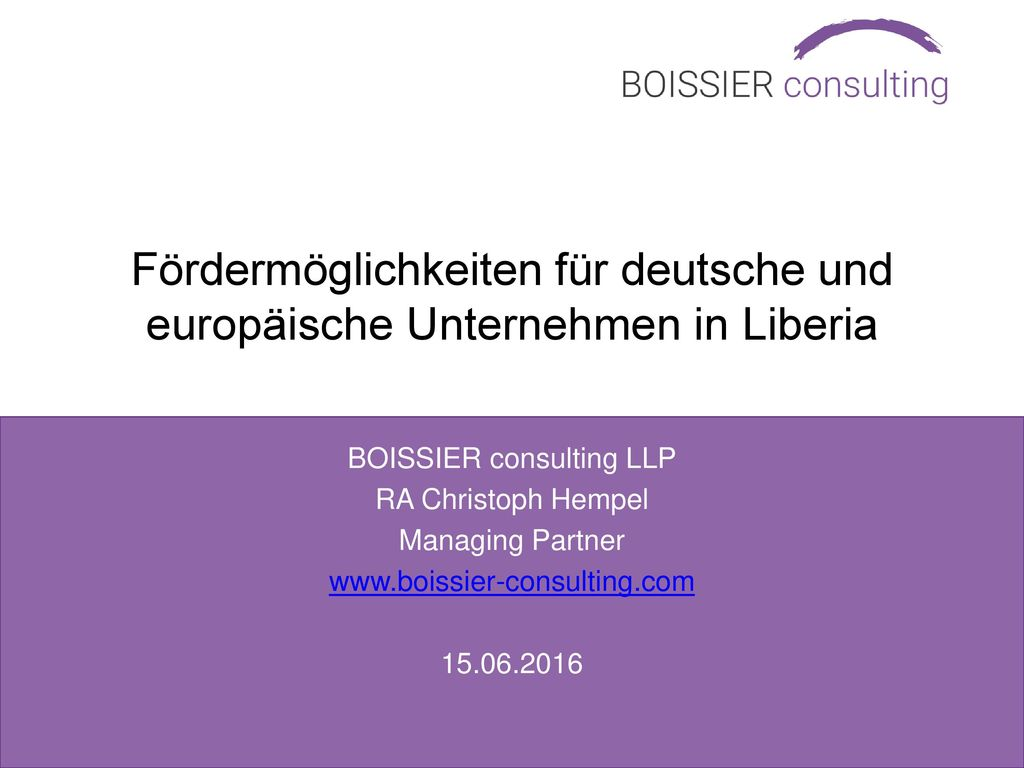 BOISSIER consulting LLP